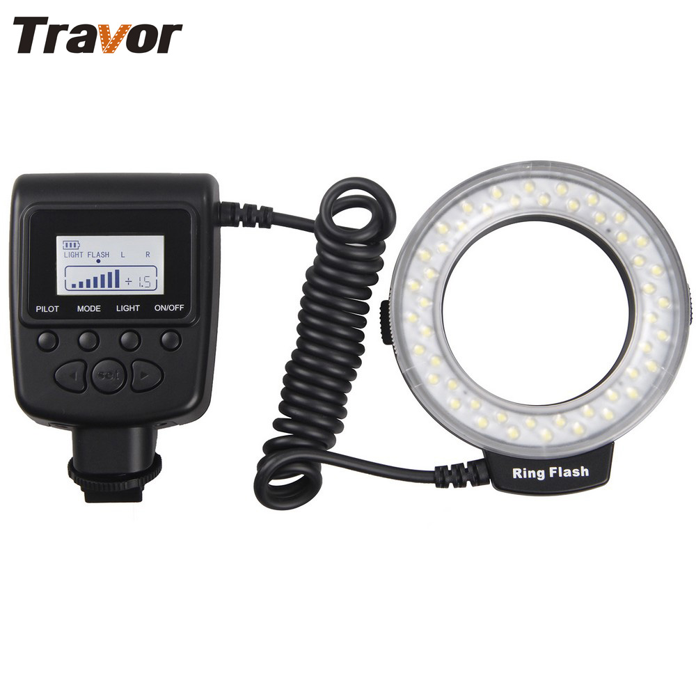 Travour Macro 48pcs yeni SONY MIS aynasız kamera üçün LED Ring Flash Light RF550E