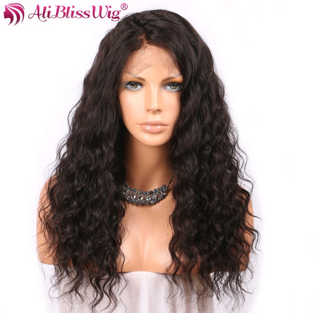 Wigs Aliblisswig Hair-Light Lace-Frontal Human-Hair Wavy with 360 150-density/4inch/Brazilian/.. title=