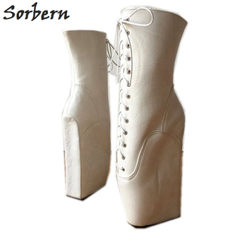 Wide Wedge Shoes | Sorbern Custom Wide Leg Ankle Boots For Women Ballet Wedges Boot Heels Women Runway Shoes For Christams Show Gothic Shoes 2019