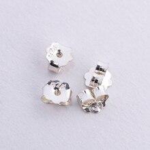 10 шт 4x4,5 мм 925 серебряные серьги в виде бабочек сзади подходят серьги-гвоздики застежка фиксатор для серег DIY серьги Модные ювелирные изделия