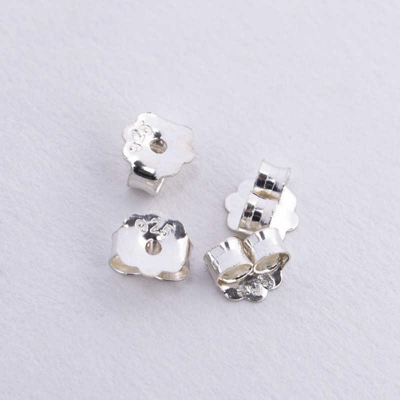 10 Pairs DIY 925 Sterling Silver BACK STOPPERS Earrings Jewelry Stud Findings