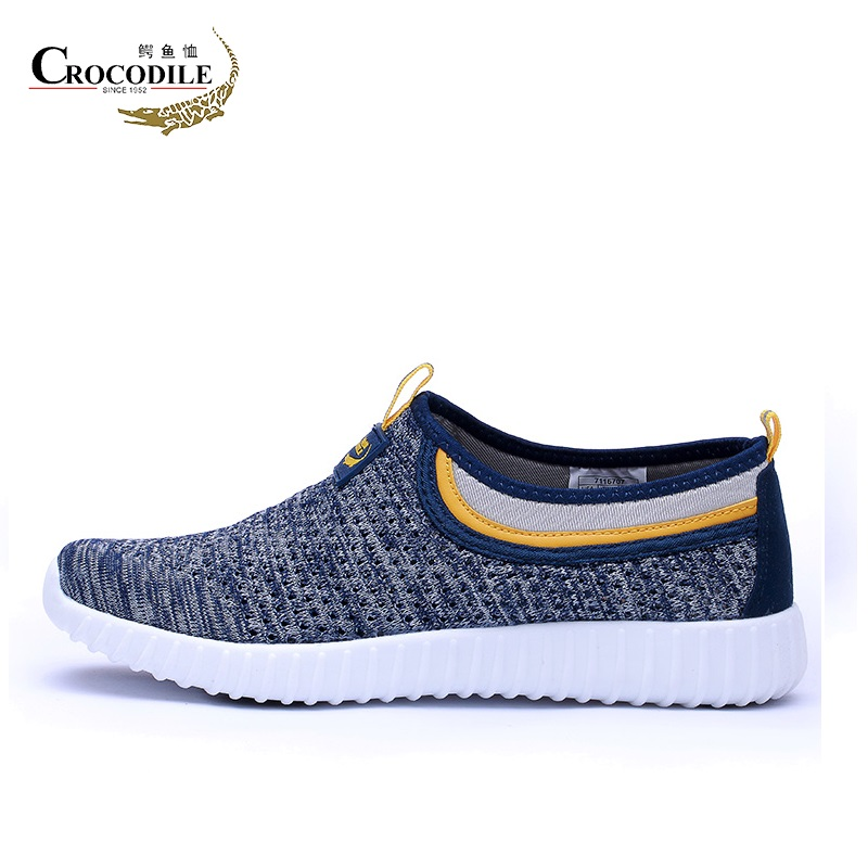 CROCODILE Men Athletic Sport Shoes Air Mesh Loafers Running Sneakers Men Flat Breathable Jogging Footwea for