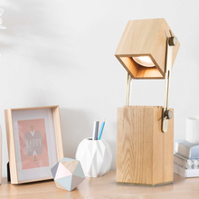 JAXLONG  Warm Modern LED Lighting Bedroom Bedside Simple Home Decor Table Lamp Office Creative Lights Coffee Shop Novelty