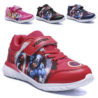 Disney children's shoes Captain America Boys 2019 spring and autumn light breathable girls princess casual boy sports shoes