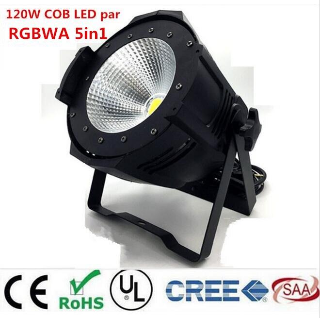 LED par 120W COB RGBWA 5in1/RGBW 4in1/RGB 3in1/ Warm White Cold white UV LED Par Par64 led spotlight dj light Dmx controll 20pcs lot led slim par light 7x3w 9w rgb 3in1 or 7x4w 12w rgbw 4in1 or 7x15w rgbwa 5in1 flat par38 dmx