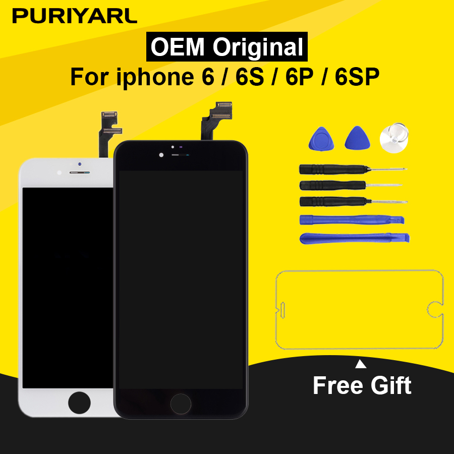 <font><b>Original</b></font> Pantalla LCD Für <font><b>iPhone</b></font> 6 <font><b>6S</b></font> <font><b>Display</b></font> Screen Für <font><b>iPhone</b></font> 6 Plus <font><b>6S</b></font> Plus LCD Mit 3D touchscreen Ersatz Montage image