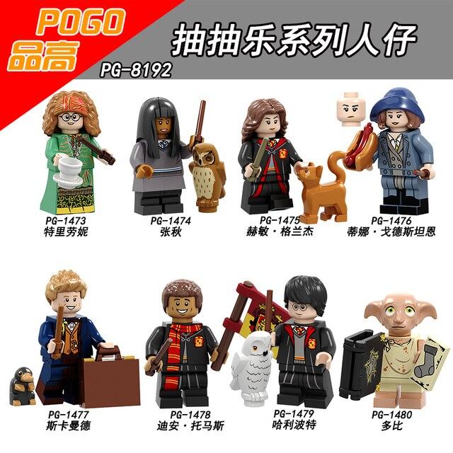 Harry Potter Ron Weasley Figura Única Venda Professora Sprout Argus Filch Narcisa Lucius Malfoy Conjunto de Blocos de Construção de Tijolos brinquedos