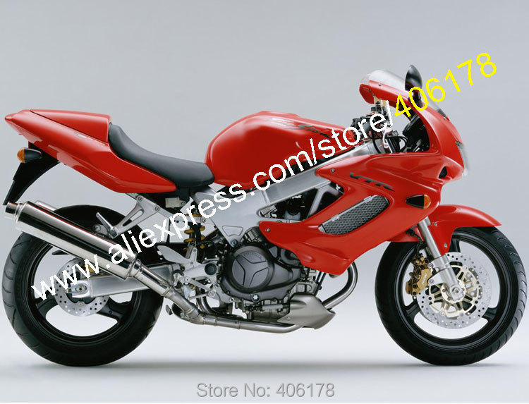 Hot Sales,For HONDA VTR1000F 97-05 1997 1999 2000 2001 2002 2003 2004 2005 VTR1000 F VTR 1000 1000F Full Red fairings