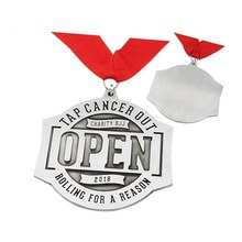 factory OEM LOGO Medals with ribbons low price Customized metal antique silver medals