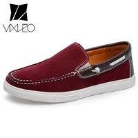 VIXLEO Одежда высшего качества Sumemr Для мужчин; повседневная обувь Мужская парусиновая обувь большой Размеры Модные мужские лоферы дышащая хол