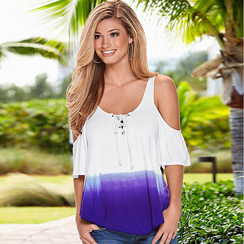new arrival women white off the shoulder tops Hollow Out bandage Short Batwing sleeves t shirt summer hipster cute woman clothes in T Shirts from Women 39 s Clothing