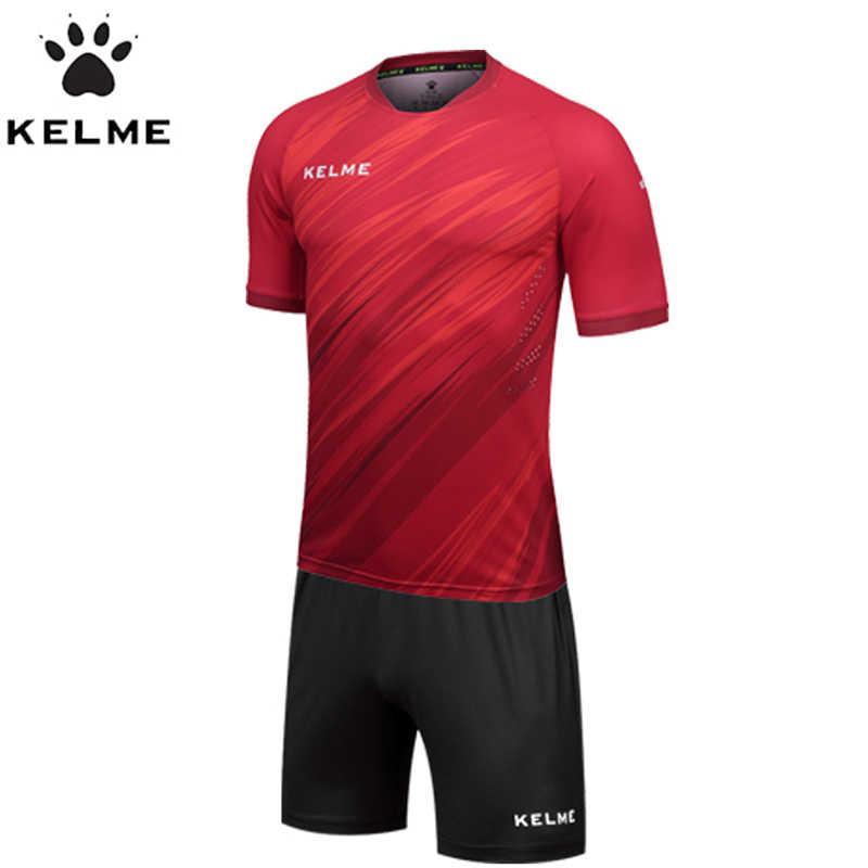 4c0c9c36934 ... KELME Spain Official Men Soccer Jerseys Football Jerseys Uniform  Maillots de Football Shirt Training Set KMC160026 ...