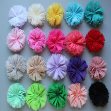 Hot Sale 2.76 Shabby Chiffon Flower 16 Color For kids Girls Headband Hair Accessory 1000pcs/lot Freeshipping