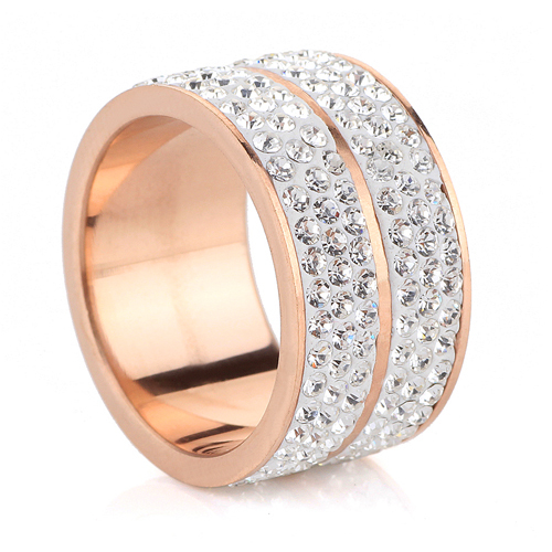 New Rose Gold Stainless Steel Rings