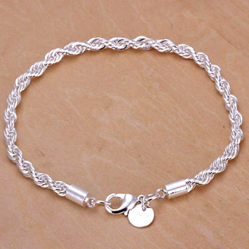 97062133c868 € 1.41  Mujeres moda elegante encanto trenzado cuerda cadena pulseras  brazalete cadena de la mano de San Valentín regalos de navidad en  Brazaletes ...