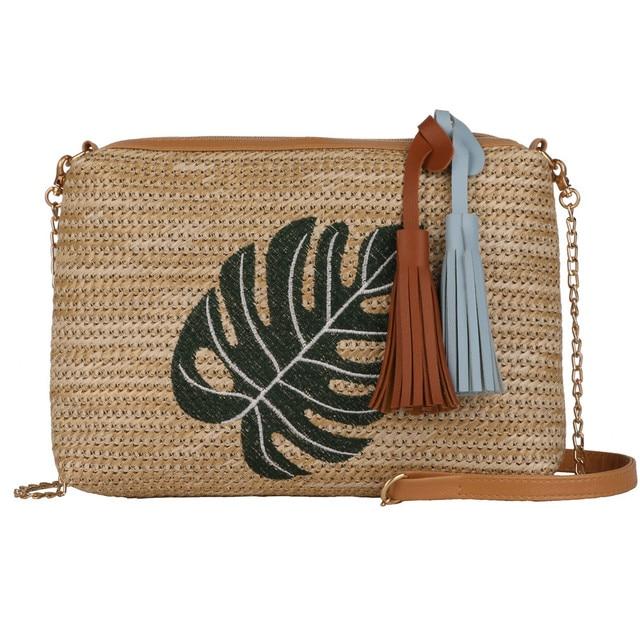 Vintage Square Straw Bag...
