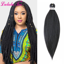 26 Pre-Stretched Braiding Hair Ombre EZ Braids Professional Perm Yaki Synthetic for Crochet Twist
