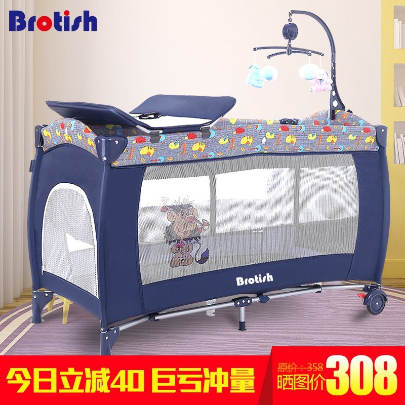 Baby bed multi functional folding portable game bed baby shaker bb cradle bed band baby travel bed  цена и фото