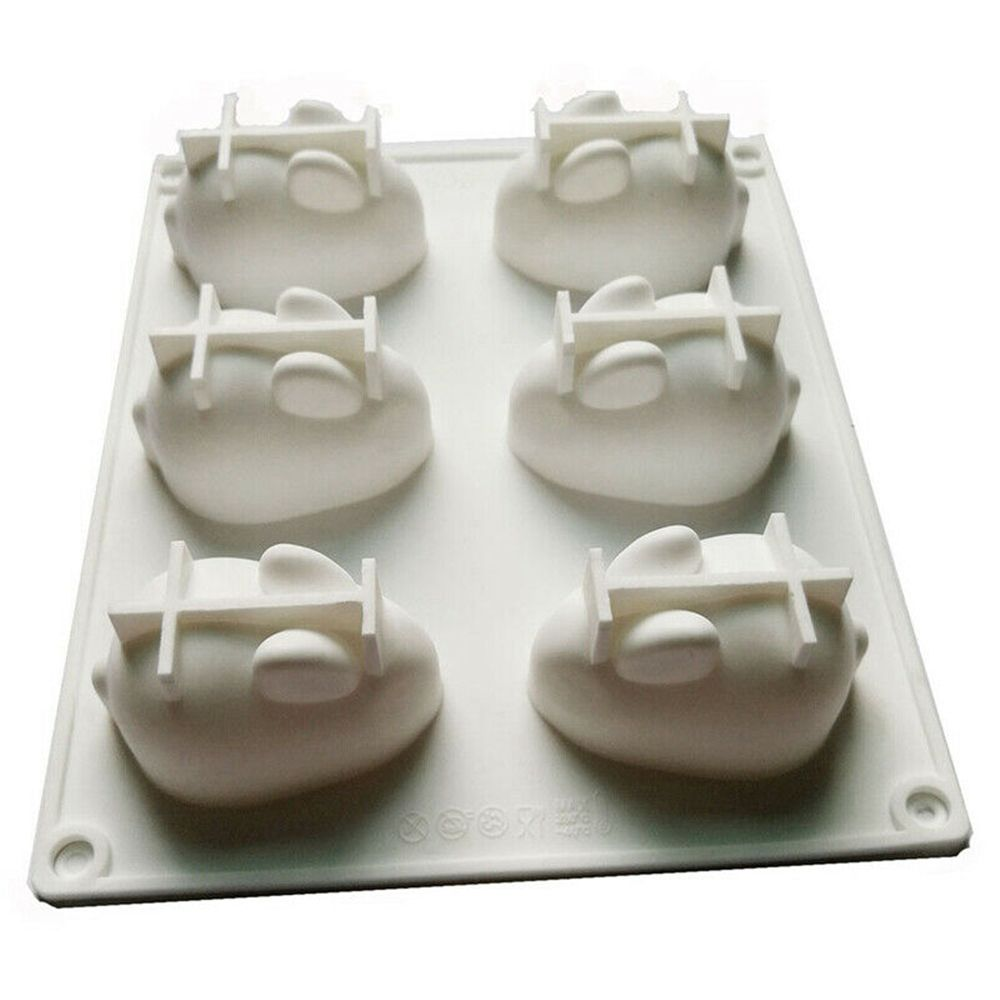 Cake Decorating Moulds Silicone 3D Bunny Rabbit Cake Molds Silicone Molds for Baking Dessert Mousse 6 Forms Bread Dessert Mould in Cake Molds from Home Garden