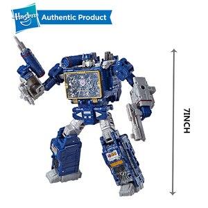 Image 4 - Hasbro Transformers Cybertron Voyager WFC S24 Decepticons Starscream Soundwave 모델 키즈 완구 액션 피규어