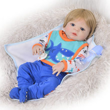 The Doll of Baby Born 23 Inches with Soft Full Silicone Complete Reborn Baby Toy For Child Baby Doll Bonecas Lol(China)