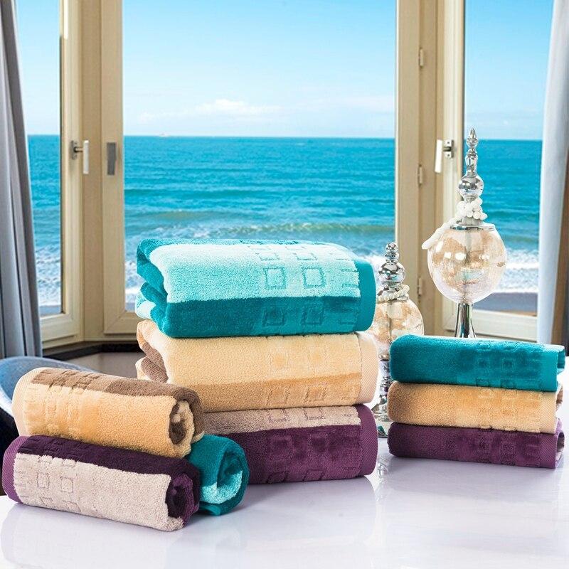 Luxury 3 PCS Hotel Travel Golf Beach Bath Towel Set For