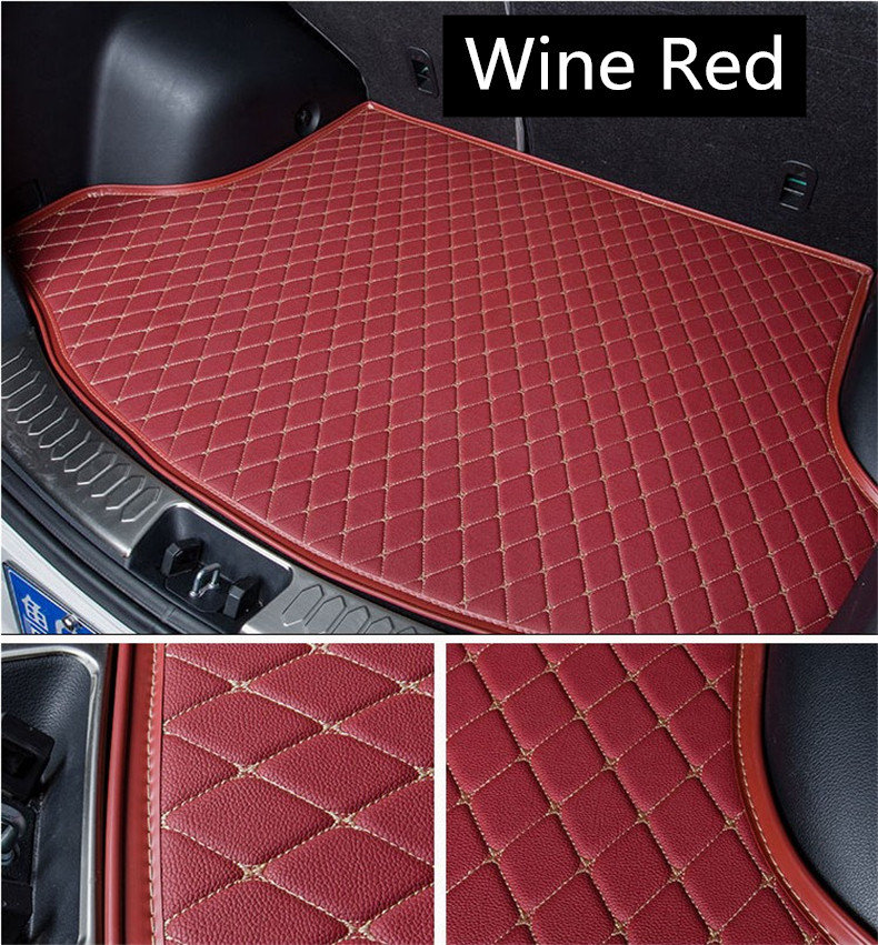Auto Cargo Liner Trunk Mats For Honda Accord 2007 2008 2009 2010 2011 2012 2013 Boot Mat  Embroidery Leather Free shipping car rear trunk security shield shade cargo cover for ford s max smax 2007 2008 2009 2010 2011 2012 2013 2014 black beige
