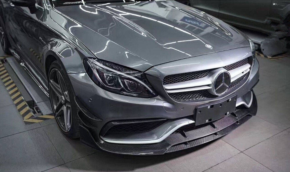Mercedes C63 Amg Coupe 2017 >> Aliexpress.com : Buy W205 C63 AMG coupe front lip // Brabuss Style //Carbon Fiber Front Lower ...