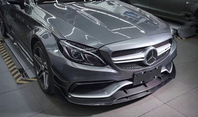 W205 C63 Amg Coupe Front Lip Brabuss Style Carbon