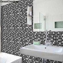 10 Teil/satz Wandaufkleber Küche Taille Linie Klebstoff Badezimmer Wc  Wasserdichte Pvc Tapeten Mosaik Fliesen Aufkleber
