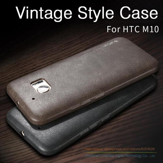 Ultra Thin Vintage Leather Case For HTC M10/HTC 10 Lifestyle/htc 10 Luxury Mobile Phone Soft Back Cover Cases For HTC One M10