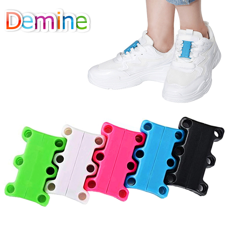 Demine Magnetic Shoelaces Strong Quick Easy For Sneakers Shoes Buckles Closure Fashion No Tie Shoelace Novelty Easy For Sneakers