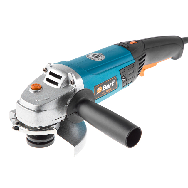 BORT Angle Grinder bulgarian USHM Grinding machine Electric grinder Angle Grinder grinding Power or cutting metal portable Woods Steel Power Tool Warranty BWS-1000-R