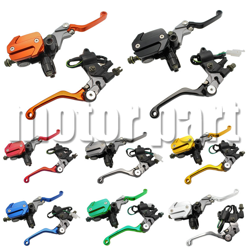 Street bikes with 22MM 7/8 Handlebars Hydraulic Brake Master Cylinder Reservoir Levers For Yamaha WR250F YZ 125 250 450F XT250X 7 8 22mm brake master cylinder clutch levers for yamaha wr yz ttr 250 wr250f xt250x tricker yfz450 ttr600 dt230 serow 225 250