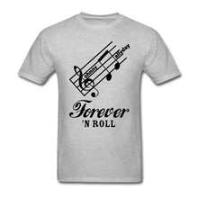Forever Roll Johnny Hallyday T Shirt Cotton Crewneck Custom Short Sleeve Rock Summer Lovers 3XL T Shirts Fitness Men(China)
