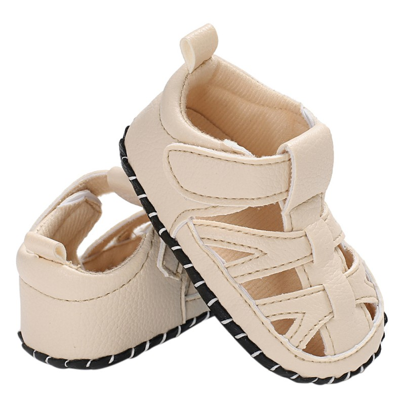 2018 Summer Newborn Baby Boys Shoes PU Leather Kids Solid Breathable First Walkers Soft Soled Infant Prewalkers H1