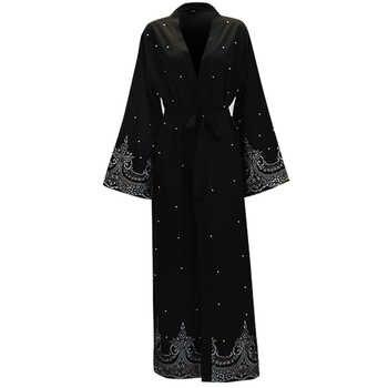 Ramadan Abayas For Women Muslim Hijab Dress Caftan Kimono Cardigan Abaya Kaftan Dubai Qatar UAE Oman Robe Femme Islamic Clothing