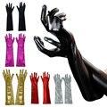 Sexy Mulheres Golves Luvas de Couro Longo Patente Adulto Fetiche Látex Costum Sexy Erotic Toys Luvas Acessórios LB