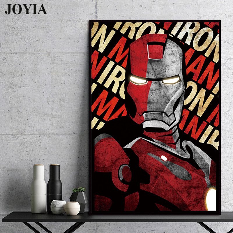 Wall Art Canvas Picture Print Iron Man and Robert Downey 3.2