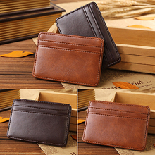 Men's Fashion Magic Faux Leather Slim Wallet Money Clip Purse