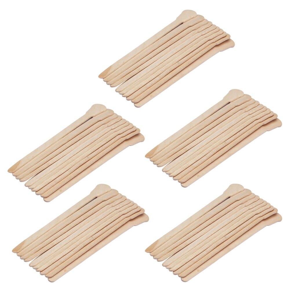 50Pcs Wooden Waxing Wax Spatula Tongue Disposable Bamboo Sticks <font><b>Hair</b></font> <font><b>Removal</b></font> <font><b>Cream</b></font> Stick For Waxing <font><b>Body</b></font> <font><b>Hair</b></font> Care