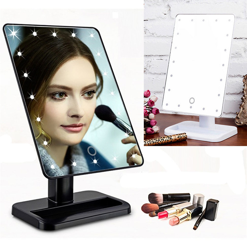 Professional Led Touch Screen Makeup Mirror 16 22 Lights