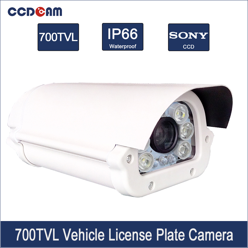 CCDCAM License Car Number Plate Recognition CCTV Sony 700 tvl Vehicle Safety Camera Analog CCD Traffic Camera купить