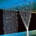Fedex livre 5 pçs/lote LED string Cortina de Luz de 3 M * 3 M 300 leds 7 Cores CONDUZIU A Luz De Natal cortina AC220/110 V 10 W
