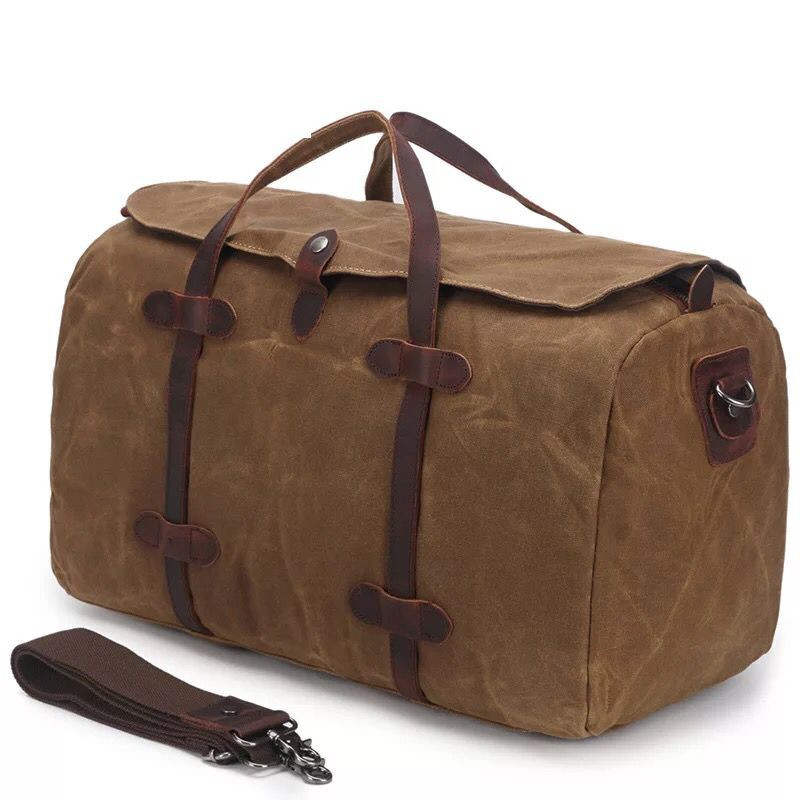 a792a259a600 Waterproof Travel Bags Canvas Men Duffle Bags Large Capacity  Multifunctional Vintage Travel Male Weekend Bags Carry On Luggage-in Travel  Bags from Luggage ...
