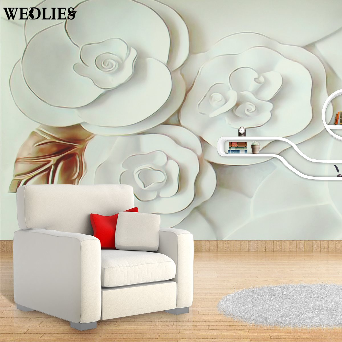 3d wallpaper mural embossed flowers waterproof white roses for 3d wallpaper waterproof