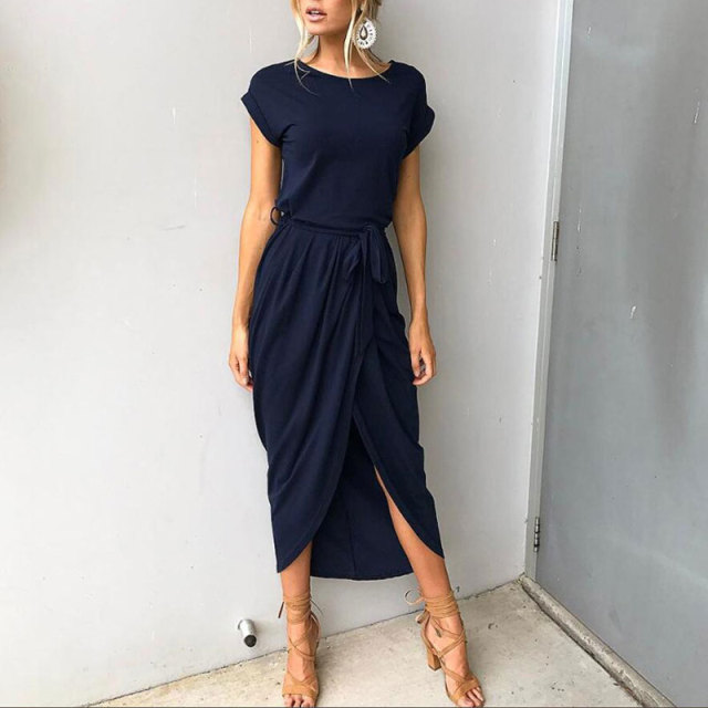 2019 Plus Size Party Dresses Women Summer Long Maxi Dress Casual Slim Elegant Dress Bodycon Female
