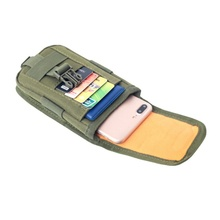 Тактический Чехол-кобура для телефона на открытом воздухе с ремнем, поясная сумка, универсальный жилет, сумка-переноска для карт, Мини Многофункциональный рюкзак на липучке для путешествий