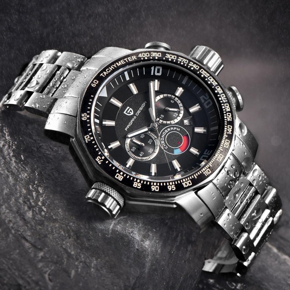 Relogio Masculino 2019 Big Dial Sport Military Watches Men Luxury Brand PAGANI DESIGN Dive Quartz Watch Full Steel Clock Men