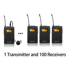 BOYA BY-WM6 Wireless Acoustic Transmission System for Tour Guiding Simultaneous Meeting Theatrical Group TV station 1TX + 100RX